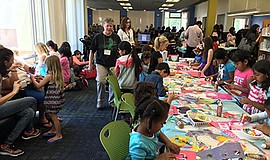 Promotional photo for storytime & craft at Vista Branch Library