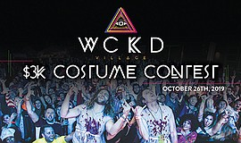 Promotional graphic for the 3k Costume Contest at WCKD Vi...