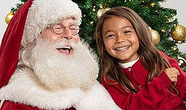 Promo graphic for Santa Photos At Westfield Plaza Bonita