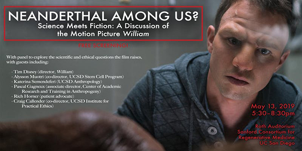Ucsd Academic Calendar 2019.Neanderthal Among Us Science Meets Fiction A Discussion Of The