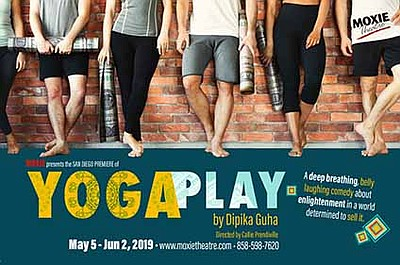 """A promotional poster for """"Yoga Play,"""" courtesy of Moxie."""