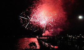 Photo from last year's Fourth of July firework show. Cour...