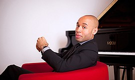 A promotional photo of pianist Aaron Diehl, courtesy of T...