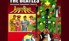 Promotional graphic for Abbey Road Christmas Show. Courte...