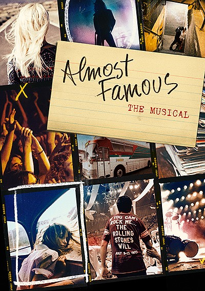 """Promotional graphic for """"Almost Famous"""" production at The..."""