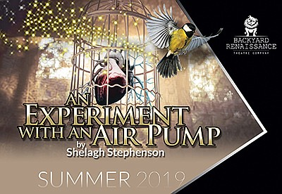 """Promotional graphic for """"An Experiment With An Air Pump""""...."""