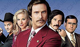 "Promotional film poster for the movie ""Anchorman"". Courte..."