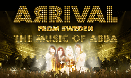 "Promotional graphic for ""Arrival From Sweden: The Music o..."