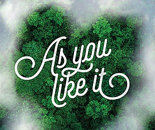 """A promotional poster for """"As You Like It,"""" courtesy of Th..."""