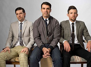 A promotional photo of The Avett Brothers, courtesy of Ti...