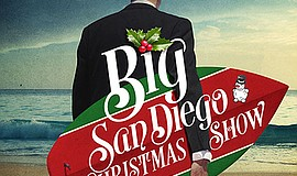Promo graphic for Ebenezer Scrooge's Big San Diego Chri...