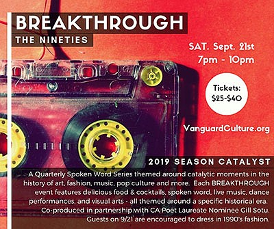 """Promotional graphic for """"Breakthrough: The Nineties"""" even..."""