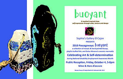 "Promotional graphic for ""Buoyant"" art show. Courtesy of S..."