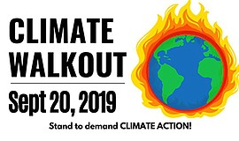 Promo graphic for Global Climate Walkout - San Diego