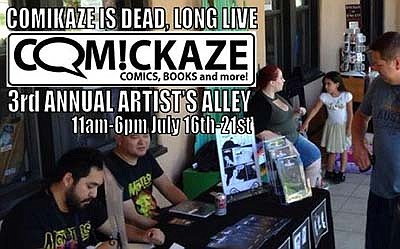 Promotional graphic for Comickaze Artists Alley III. Cour...