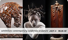 Promotional graphic for Contemporary California Sculpture...