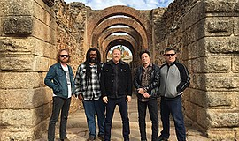 Promotional photo of the band Cracker. Courtesy of Belly ...