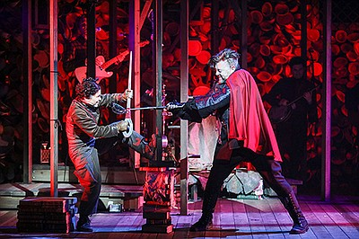 Bianca Norwood as Despereaux and Eric Petersen as Roscuro...