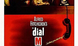 "Promotional film poster for ""Dial M for Murder"". Courtesy..."