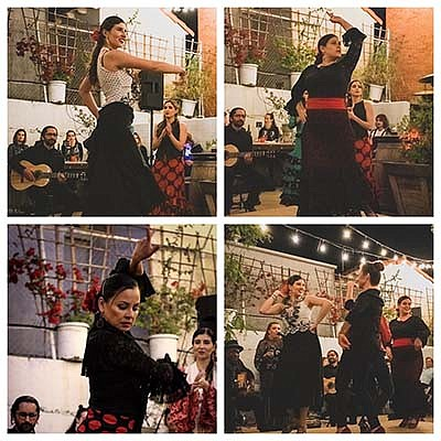Promotional graphic of flamenco dancers. Courtesy of Danz...