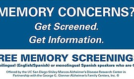 Promo graphic for Free Memory Screening
