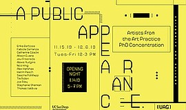 Promo graphic for 'A Public Appearance': Artists From T...