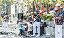 Promotional photo of a band performing at Grossmont Cente...