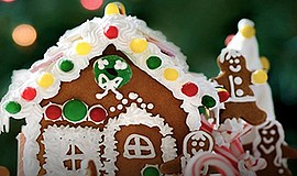 Promotional photo of a gingerbread house. Courtesy of Cap...