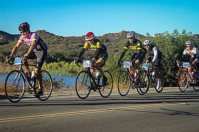 Promotional photo of five bikers. Courtesy of Giro di San...