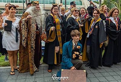 Promotional photo of a Harry Potter cosplay meetup. Photo...