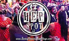 Promo graphic for The Hep Spot Feat. The Downbeat Big Band