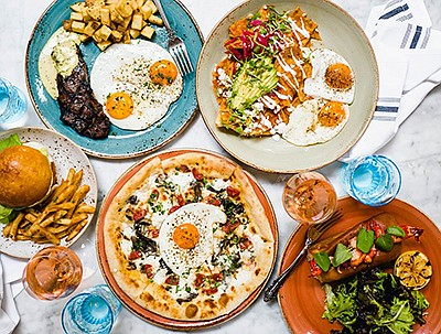 Promotional photo of brunch food. Courtesy of Herringbone...