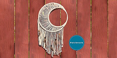 Photo of a macrame moon. Courtesy of Patchwork.