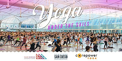 Promotional photo for Yoga Under the Sails. Courtesy of D...