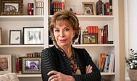 Promo graphic for Isabel Allende - 'A Long Petal Of The...