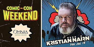 Promotional graphic for Kristian Nairn DJ Set at OMNIA. C...