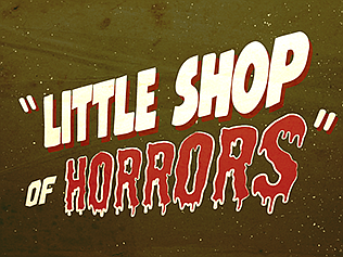 """A promotional poster for """"Little Shop of Horrors,"""" courte..."""