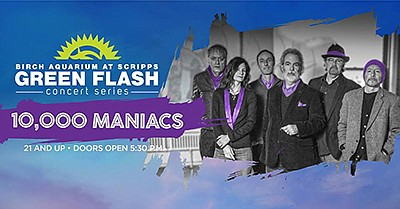 Promotional graphic for 10,000 Maniacs performance for Gr...