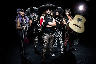 Promotional graphic of the band Metalachi. Courtesy of Be...