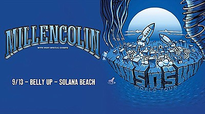 Promotional graphic for the band Millencolin upcoming liv...
