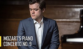 Promo graphic for 'Mozart's Piano Concerto No. 9'