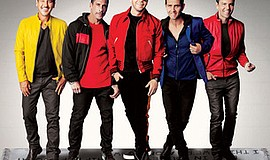 A promotional photo of New Kids on the Block, courtesy of...