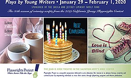 Promotional graphic for 35th Plays by Young Writers Festi...