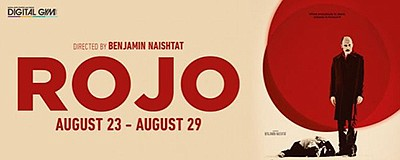 """Promotional graphic for screening of """"Rojo"""". Courtesy of ..."""