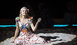 "Louisa Jacobson as Juliet in ""Romeo and Juliet,"" by Willi..."