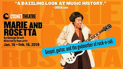 "A promotional poster for ""Marie and Rosetta,"" courtesy of..."