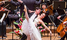 Promotional photo of two dancers for Salute to Vienna per...