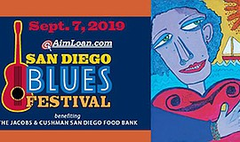 Promotional graphic for San Diego Blues Festival. Courtes...