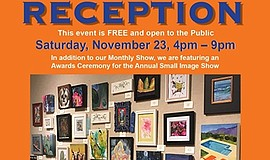 Promo graphic for Art Reception