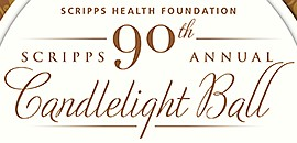 Promotional graphic for Scripps 90th Annual Candlelight B...